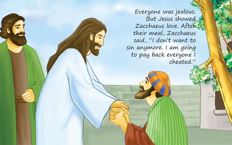 Zacchaeus Meets Jesus And Repents Scanpublishing Dk