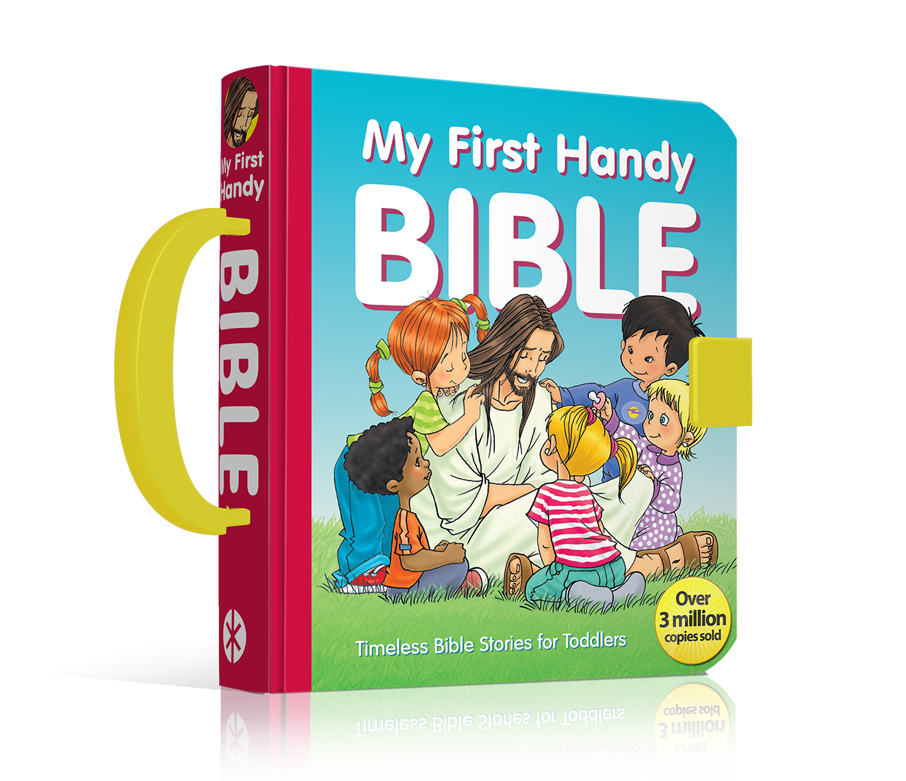 """When my 3-year-old daughter picked My First Handy Bible straight from a  big pile of book samples, took hold of the handle and carried it away, ..."